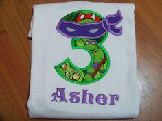 ninja turtle birthday shirt personalized ninja by playpatch