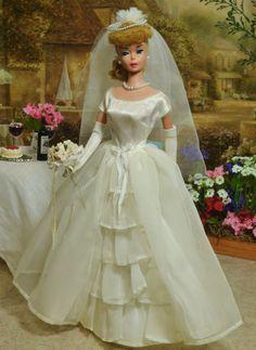Vintage Mattel Blonde 6 Ponytail Barbie Doll 850 Bride's Dream 947