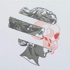 skull and head illustration drawing head Kunst Inspo, Art Inspo, Art And Illustration, Desenho Tattoo, Graffiti Art, Graffiti Tattoo, Aesthetic Art, Graphic, Line Art