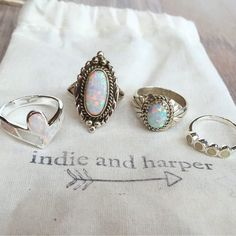 Beautiful selection of opal rings sent to one of our customers    Hope you love it Katherine xx www.indieandharper.com Opal Rings, Gemstone Rings, Indie And Harper, Jewel Box, Christmas Wishes, Jewelry Collection, Jewerly, Gypsy, Make Up