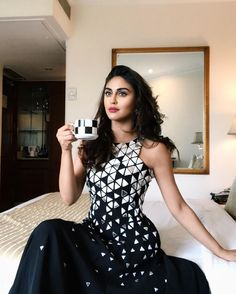 """139.7k Likes, 580 Comments - Krystle D'souza (@krystledsouza) on Instagram: """"Twinning with my soul mate-coffee☕️ Hahaha coffee gets me 🖤"""""""