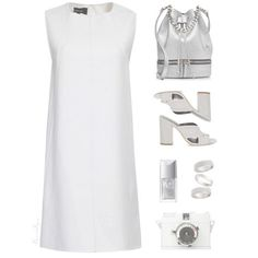 what color heels to wear with white dress 4