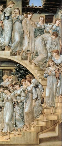 zasu:  The Golden Stairs, 1876-1880 by Edward Burne-Jones (1833 - 1898) (enlarge for detail)