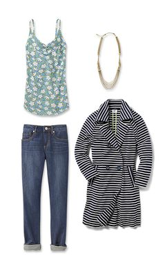 Check out five unique ways to mix and match the Maritime Trench with other cabi items!