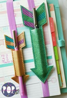 Digital Download - Planner Band Arrow Pen Holder (2 Sizes & 2 Styles) - Parker on the Porch