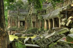 Cambodia is famous for a Hindu temple known as Angkor Wat temple. There are so many temples like Ta Prohm temple, Bayon which is the central temple of the ancient city of Angkor Thom attract the people. Angkor Vat, Angkor Temple, Temple Ruins, Hindu Temple, Temple City, Phnom Penh, Places To Travel, Places To See, Angkor Wat Cambodia