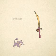 No. 019 - Rattata. #pokemon #rattata #blade #pokeapon