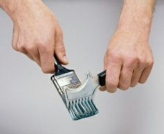 A quick #painting tip by #CitywideDecorators: Use a brush comb when cleaning your brushes.