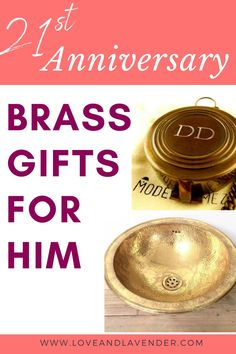 People say that marriage is a lot of work, and that may be true. But anything worth keeping is worth working for. If you've made it to your 21st anniversary, congratulations! You've put in the time, so take a moment to celebrate each other. Find out about 21st Anniversary Brass Gifts for Him by reading this article. Clck the link for more! Here's to 21 more! #anniversary #romanticgifts #anniversarygifts #21stanniversary