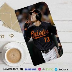 Manny Machado Baltimore Orioles Leather Wallet iPhone 4/4S 5S/C 6/6S Plus 7…