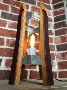 Wine Barrel Stave Accent Lamp by FattbackkGarage on Etsy