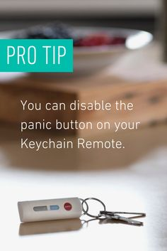 Customize your Keychain Remote to suit your needs. Disable the Panic Butto Diy Home Security, Security Tips, Home Security Systems, Home Safes, New House Plans, Getting To Know You, Stay Safe, Remote, Home Improvement