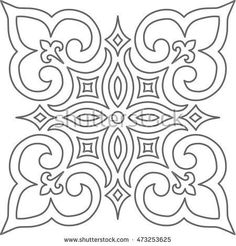 Geometric Islamic Pattern Arabesque blue and white. Geometric Islamic Pattern Arabesque blue and white. Geometric Islamic Pattern Arabesque blue and white. Stencil Patterns, Stencil Designs, Tile Patterns, Pattern Art, Embroidery Patterns, Motif Arabesque, Motifs Islamiques, Stencils, Mosaic Art
