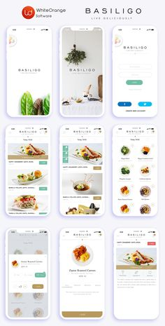 Basiligo Food Delivery App - The app allows customers to order food to be delivered to their office or home.Responsibility: The - Ios App Design, Mobile Ui Design, Food Web Design, Android App Design, Interface Design, Android Apps, App Delivery, Delivery Food, Food App