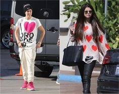 Justin Bieber & Selena Gomez, so cute