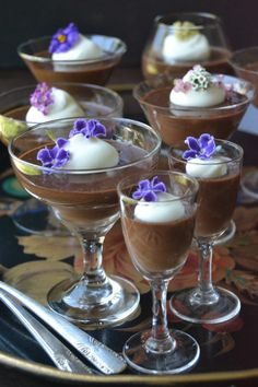 Dark Chocolate Pot de Creme, made quick and easy in the blender!