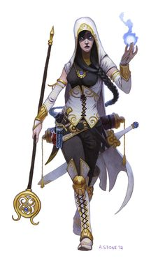 Lyssa by alexstoneart #cleric #wizard #magus #warpriest #inquisitor