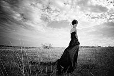 люди, поле, пейзаж, портрет