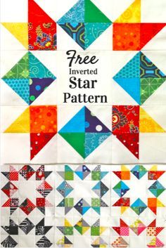 Make your next block your best block with this FREE Inverted Star Block tutorial.