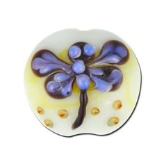 18mm Delicate Dragonfly Disc Lampwork Beads