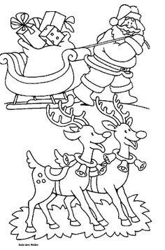 200 Beste Afbeeldingen Van Kleurplaten Kerstman En Rendieren