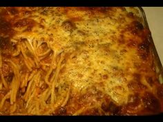 The Best Baked Spaghetti & Cheese RECIPE