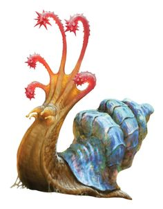 "dndwizards: ""A flail snail is a creature of elemental earth that is prized for its multihued shell. Hunters might be lulled into a false sense of confidence upon sighting this ponderous, seemingly nonhostile creature. "" A classic from the Fiend Folio..."