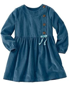 Girls Pincord Peasant Dress by Hanna Andersson Stylish Dresses For Girls, Little Girl Dresses, Girls Dresses, Cotton Frocks For Kids, Frocks For Girls, Baby Frocks Designs, Kids Frocks Design, Little Girl Fashion, Kids Fashion