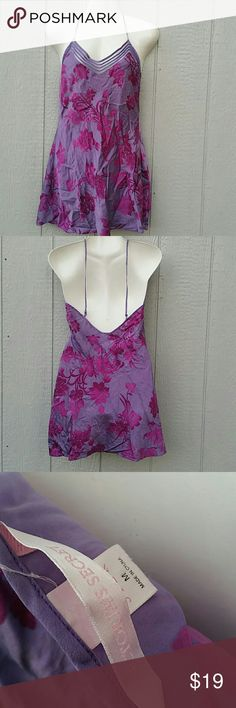 Victoria's Secret Purple Silk Nightie Medium Short & Sexy night gown Victoria's Secret Intimates & Sleepwear