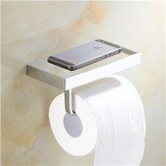 (EU Lager)WC-Rollenhalter Bad Modern aus Messing Chrom