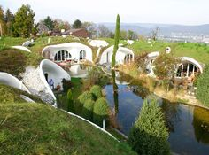 Beautiful underground homes.