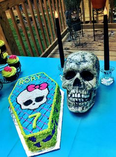 Monster High Birthday by booturtle, via Flickr kaylyn-pink, purple and green