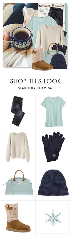 """""""Cozy Winter Sweater"""" by brendariley-1 ❤ liked on Polyvore featuring Wrap, Calypso St. Barth, La Garçonne Moderne, Dsquared2, PIERO GUIDI, UGG and wintersweater"""