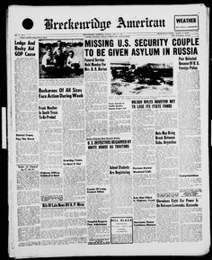 September 6, 1960: US National Security Agency cryptologists; William H. Martin and Bernon F. Mitchell announce their defection to the Soviet Union in Moscow after departing the US on June 26, 1960.