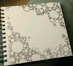 Doodle Diversos - Traços - Bordas - Riscos - Preto e Branco - Rabiscos - Margens