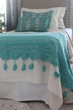 Crochet Cord, Diy Crochet And Knitting, Crochet Quilt, Love Crochet, Crochet Baby, Crochet Shrug Pattern, Crochet Patterns, Crochet Home Decor, Duvet Sets