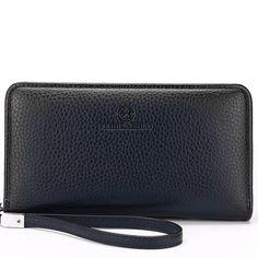 fa583c0ce90ee 2016 Luxury Male Leather Purse Men's Clutch Wallets Handy Bags Business  Carteras Mujer Wallets Men Black