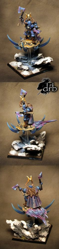 Warriors of Chaos - Chaos Lord on Disc of Tzeentch.