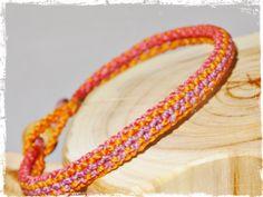 Armband ☼ Sunset ☼ Macramé ☼ orange von Sunnseitn Kunsthandwerk auf DaWanda.com