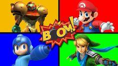 SURPRISE Video Game BOMB Colors | Mario Link Samus Mega Man | JUNIORS TOONS