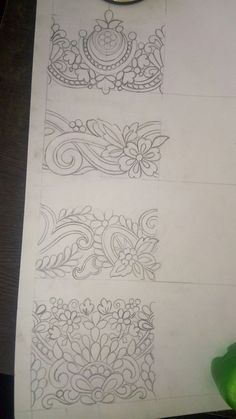 Embroidery Tattoo, Embroidery Motifs, Embroidery Designs, Textile Pattern Design, Textile Patterns, Textiles, Couture Embroidery, Hand Sketch, Boarders