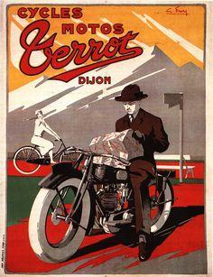 G. Favre – Affiche pour les Motos Terrot (1925-26)