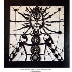 A Web of Time - Beatrice Coron Coron, Walker Art, Paper Artist, Public Art, Metropolitan Museum, Chakras, All Art, Laser Cutting, Silhouettes