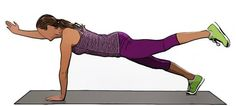 The 7 Workout Burns Belly Pooch With Alternating Two Point Plank