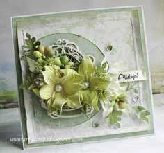 Dorota_mk: Lilies of the field Cool Cards, Diy Cards, Card Making Inspiration, Making Ideas, Lemon Crafts, Mixed Media Cards, Shabby Chic Cards, Shaped Cards, Pretty Cards