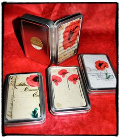 Hey, I found this really awesome Etsy listing at https://www.etsy.com/listing/122673703/set-of-four-4-handmade-french-red-poppy