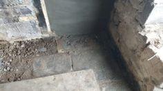 The original flagstone and dirt floor, hidden under of concrete Hardwood Floors, Flooring, Flagstone, Home Kitchens, Concrete, The Originals, House, Wood Floor Tiles, Wood Flooring
