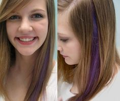 Could you pull off a purple streak?  Find out without the full-time commitment with clip-in colored hair extensions now available at David Gerard Salon in Goodyear, AZ.  http://davidgerardhairsalon.com/