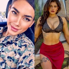 We find and share these 69 beautiful ARMY women with and without uniform in which all these are looking so powerful with stunning and attractive looks. Female Army Soldier, Sexy Women, Military Women, Military Army, Girls Uniforms, Sensual, Lady, Amazing Women, Beautiful Women Tumblr