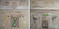 Relic 1 and 2 - Diptych Painting Abstract Styles, Abstract Art, Abstract Paintings, Africa Painting, Original Art, Original Paintings, Canvas Art, Canvas Size, Large Painting